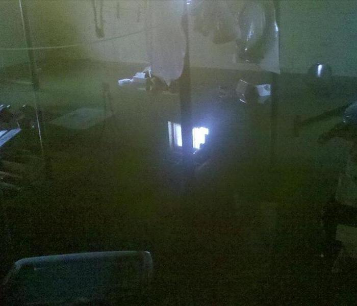 Flooded basement in Henderson,NC Before