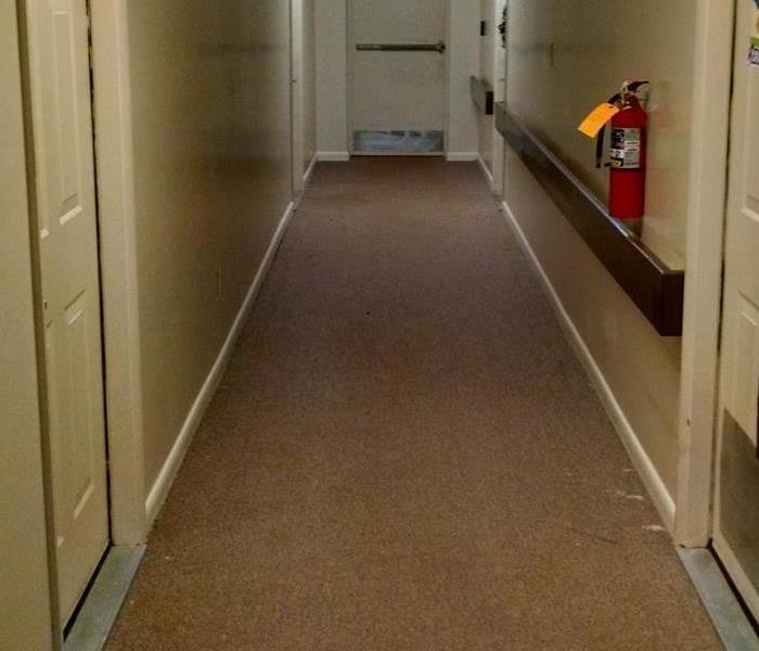 Hallway flooded in Louisburg, NC After